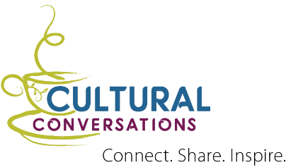 Logo for Cultural Conversations Share Connect Inspire